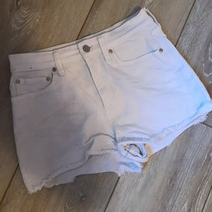 White jean shorts by Pink